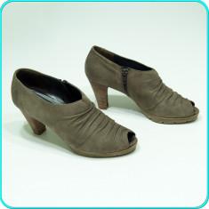 DE FIRMA _ Pantofi decupati, din piele, de calitate, PAUL GREEN _ femei | nr. 29 - Pantof dama Paul Green, Marime: 39, Culoare: Bej, Piele naturala