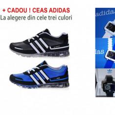 Adidasi barbati - ADIDAS SPRINGBLADE Negru sau Albastru + CADOU ! CEAS ADIDAS LA ALEGERE !