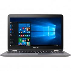 Laptop Asus VivoBook Flip TP501UB-DN021T 15.6 inch Full HD Touch Intel Core i7-6500U 4GB DDR3 1TB HDD nVidia GeForce 940M 2GB Windows 10 Glacier Gray