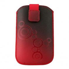 Husa Telefon Atlas, Rosu, Piele Ecologica, Toc - Toc Lux iPHONE 5/5S/5C Rosu