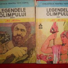 Carte mitologie - Legendele Olimpului eroii+zeii /2vol. / an 1983/565pag- Al.Mitru