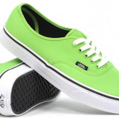 Tenisi Vans Authentic Green Flash/Black - Tenisi barbati Vans, Marime: 43, Culoare: Din imagine, Textil