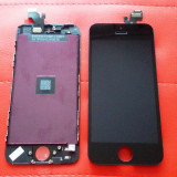 Display LCD Touchscreen Complet Apple iPhone 5 5G Black Negru ORIGINAL, iPhone 5/5S