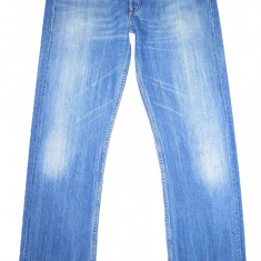 LEVI'S 501 - (MARIME: 32 x 34) - Talie = 86 CM, Lungime = 115 CM - Blugi barbati Levi's, Culoare: Albastru, Prespalat, Drepti, Normal