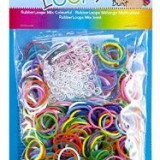Mini elastice speciale pentru bratari Rainbow Loom 600 bucati