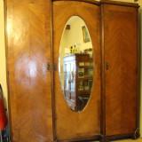 Mobilier - Sifonier Vienez din panel si lemn masiv, cu 3 usi; Dulap de dormitor