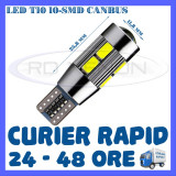 Led auto ZDM, Universal - BEC AUTO LED LEDURI POZITIE T10 W5W - 10 SMD 5730 CANBUS FARA EROARE - POZITII