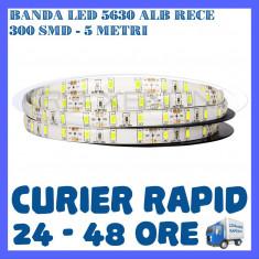 Iluminat decorativ ZDM - ROLA BANDA 300 LED LEDURI SMD 5630 ALB RECE - 5 METRI, IMPERMEABILA (WATERPROOF)