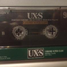 Casete Audio SONY UX-S - CHROME SUPER CLASS - 90 min - IEC II - made in ITALY - Deck audio