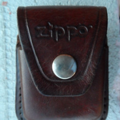 Husa bricheta Zippo, din piele naturala, originala, Tip: Altul
