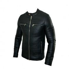 Geaca Barbati Zara Model Office Piele Ecologica Cod Produs D372, Marime: S, M, L, XL, Culoare: Negru