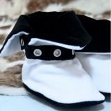 Cizmulite botez Micul Muschetar (Culoare: alb, Lungime talpa: 11 cm)