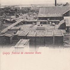 GALATI, GALATZ, FABRICA DE CHERESTEA GOETZ - Carte Postala Moldova pana la 1904, Necirculata, Printata