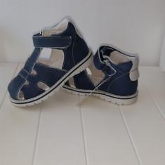 Sandale copii - Sandale piele baieti Andromeda (Culoare: alb/ bleumarin, Marime incaltaminte: 23)