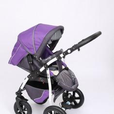 Carucior copii 2 in 1 - Carucior 2 in 1 Q9 Baby Merc Color 13 (Mov cu Gri) Baby-Merc
