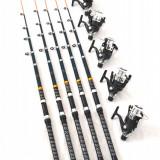 Lanseta - Set de 5 lansete Black Panther 3, 6m cu 5 mulinete NBR50 cu 6 rulmenti