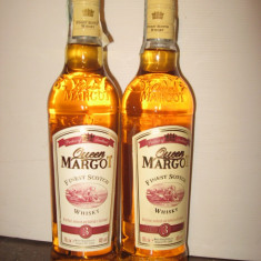 2 sticle whisky, queen  margot 3 years, cl 70 gr 40 ani 80