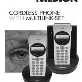 Telefon fix - Telefon cordless - fara fir dual Medion cu robot