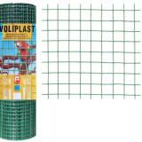 Plasa de gard zincata PVC Voliplast 1x25m 1.2x16x16mm