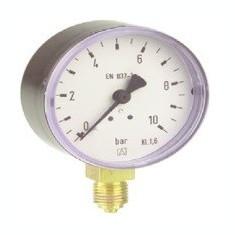 Centrala termica - Manometru cu tub Bourdon RF100 plastic D101 0-2.5bar