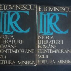 Studiu literar - E. LOVINESCU - ISTORIA LITERATURII ROMANE CONTEMPORANE 2 volume