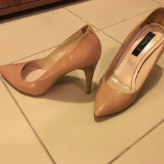 Pantofi dama - PANTOFI MUSETTE, NR 36, PIELE LACUITA, APROAPE NOI