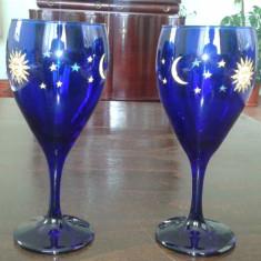 Set doua pahare de Sampanie din sticla Murano
