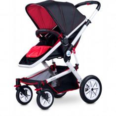 Carucior copii 3 in 1 - Caretero COMPASS 3 in 1 Red