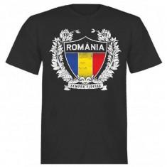 Tricou barbati - Tricou Romania SCUT TRICOLOR negru