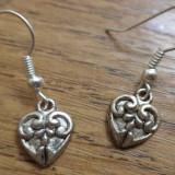 Cercei inimi argintii