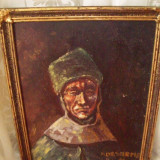 Tablou pictori straini, Portrete, Ulei, Impresionism - Tablou in ulei pe carton semnat