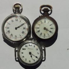 CEASURI DE BUZUNAR DE DAMA -3 BUCATI -PENTRU PIESE DE SCIMB - Ceas de buzunar vechi