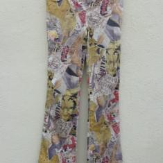 Pantaloni multicolori Moschino Jeans originali - Pantaloni dama Moschino, Marime: M/L, Lungi