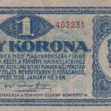 Bancnota Straine, Europa, An: 1920 - UNGARIA 1 korona 1920 VF!!!