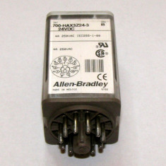 Releu Allen Bradley actionare 24 Vdc 3 contacte no/nc 4A 250 Vac cu montaj soclu 11 pini(332)