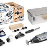 Unealta multifunctionala DREMEL 3000 Trusa de proiect atasamente ax flexibil 45 accesorii lemn de prelucrat