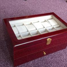Cutie din lemn de cires pentru 22 ceasuri - Cutie Ceas