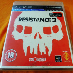 Joc Resistance 3 + Bluray Battle for LA, PS3, original, alte sute de jocuri! - Jocuri PS3 Sony, Shooting, 16+, Single player