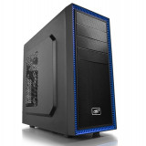 "CARCASA DEEPCOOL ATX Mid-Tower, 1* 120mm fan (inclus), front audio &amp 1x USB 3.0, 1x USB 2.0, black ""TESSERACT BF"""