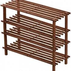 Suport incaltaminte din lemn cu 4 etajere - Raft/Etajera