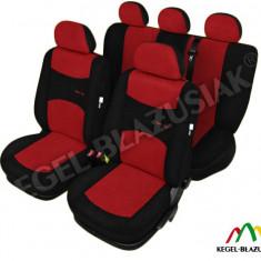 Set huse scaune auto SportLine Rosu pentru Volkswagen Golf 2 Golf 3 Golf 4 Golf 5 Golf Plus - Husa Auto