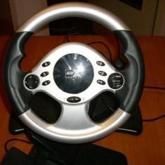 Volan si pedale Serioux S2X pentru jocuri PC