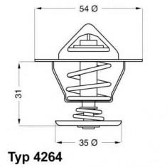 Termostat auto Sachs - Termostat Vw Golf 3 Vento Audi 80 A6 Seat Cordoba 87°C