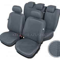 Huse scaune auto imitatie piele Daewoo Matiz set huse fata + spate Culoare Gri - Husa Auto