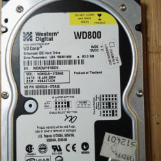 Hard Disk Western Digital, 40-99 GB, Rotatii: 7200, IDE -  HDD PC Western Digital 80Gb IDE