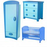 Set mobila copii Altele - IKEA Mammut - Dulap, comoda cu 3 sertare si patut 0-5 ani reglabil pe inaltime