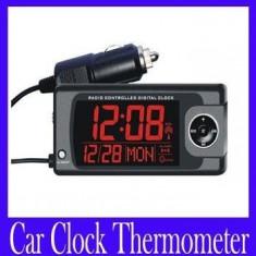 Termometru Auto - Termometru / ceas auto digital ecran LCD