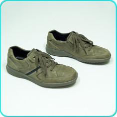 DE FIRMA _ Pantofi din piele, ASPECT VINTAGE, calitate ECCO _ barbati | nr. 42 - Pantofi barbati Ecco, Culoare: Bej, Piele naturala
