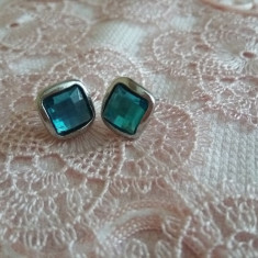 Cercei Cu Cristale Albastru Marin Fashion - Cercei Fashion