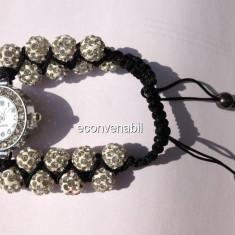 Ceas Bratara Shamballa cu Cristale - Set bijuterii handmade si fashion